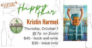 Virtual Happy Hour with Kristin Harmel
