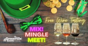 St. Patrick's Day wine tasting and mixer